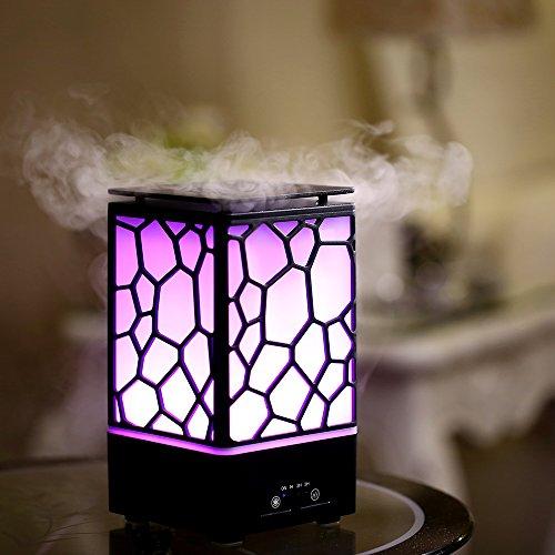 200ml Aroma Diffuser – Ultraschall Diffuser Luftbefeuchter Oil Düfte Humidifier LED Licht mit 7 Farben, Humidifier Aromatherapie Diffusor, Niedrigwasserschutz für Babies Kinder