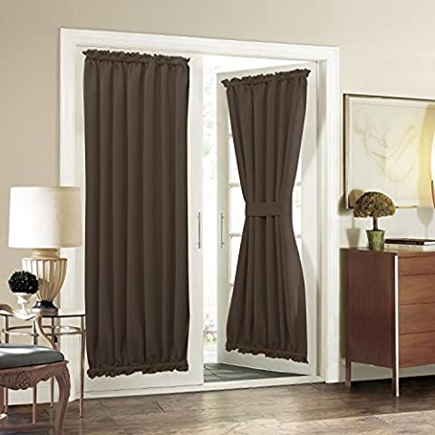 Aquazolax Solid Interwoven Lining Thermal Insulated Blackout Window Curtains French