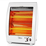 LBSX Stufa elettrica - infrarosso radiante del riscaldatore del riscaldatore al quarzo a raggi infrarossi con 2 impostazioni di calore, tranquillità e luce radiante Stufetta senza ventilatore, Warm up