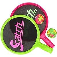 com-four® Juego de Pelota y Bate para niños de 4 Piezas - Juego de Pelota de Playa - Raquetas y Pelotas para divertirse en el Agua