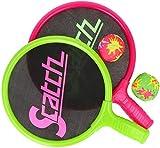 com-four® 4-teiliges Ball-und-Schläger-Spiel für Kinder - Beachball Set - Schläger und Bälle für Spielspaß im Wasser