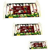 Plasma Dinner Serving Tray, Water Serving Tray, Guest Welcome Tray, Melamine Material, Set Of 3 (Small/Medium / Large)
