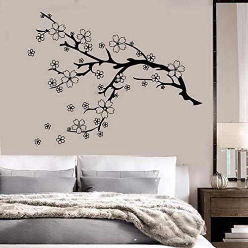 Hkkhkk New Branch Flowers Vinyl Wall Decal Home Decor Living Room Art Mural Wallpaper Removable Wall Stickers 76X58Cm