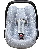 Blausberg Baby Bezug für die Maxi Cosi Pebble Babyschale in grau mit Sternen