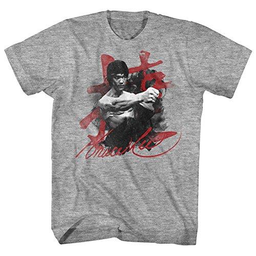 Bruce Lee - Herren-Wha-TAAA T-Shirt Gray Heather