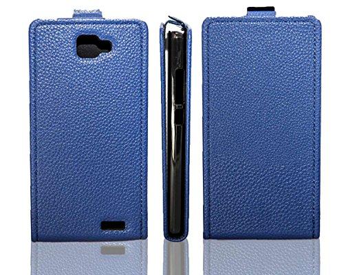caseroxx Flip-Case Handytasche zum Aufklappen Blau Archos 50 Neon