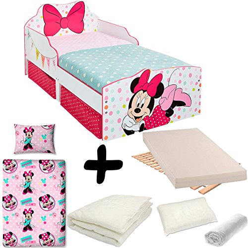 tecnologie sofisticate negozio online belle scarpe BEBEGAVROCHE Pack Completo Letto Nodo Minnie cassetti Disney ...