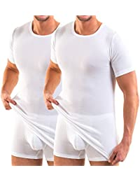 HERMKO - Maillot de corps - Robe - Manches Courtes - Homme
