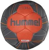 hummel Ballon de Handball pour Sport Professionnel & Training–Taille 2ou 3–Storm HB–Résine Bleu & Rouge–Ball avec Valve Air de Trap 3 Ombre Blue/Naturtium