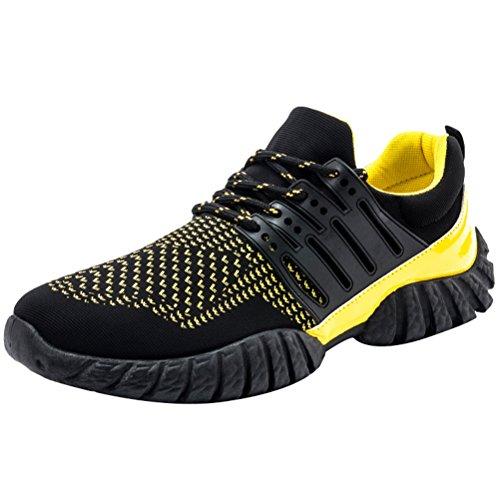 Giallo 2 Scarpe Sportive Running Vogstyle da Sneakers Stile Casual Uomo Stringata xwAc1T6q