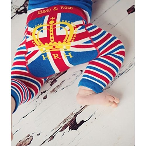 Blade and Rose Baby Boys HRH Leggings. Royal Leggings.blue