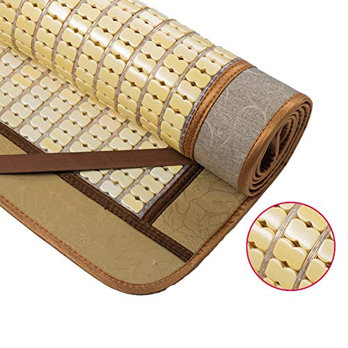 ZHAOHUI Estera De Bambú Carbonizado Almohadilla para Dormir Verano Antideslizante Respirable Doble Tendón Anciano, 5 Estilos, 9 Tallas (Color : D-2x2.2m)