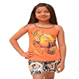 Titrit Orange strapy top for girls