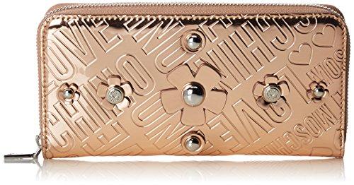Love Moschino Damen Portafogli Embossed Tpu Rame Clutch, braun (Copper), 3 x 10 x 20 cm -