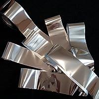 SILVER MIRROR Nail Art Foil Decoration Wrap Transfer Foils