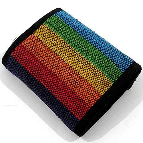 Rainbow Festival Hippy Cartera   Boho Monedero   Hippy Rainbow Monedero