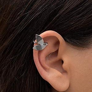 925 Sterling Silber Elf Ohr Stulpeohrring, helix Ohr Manschette für nicht durchbohrtes Ohr, Neugriechisch Ohrring…