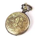 YESURPRISE Elegant Damen Herren Quarz Uhr Taschenuhr Kette Halskette Schmuck Bronze Farbe Geschenk Xmas Gift