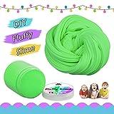 Fluffy Slime,Kidshobby 6OZ  DIY Fluffy Floam Slime Kit Stress Relief Sludge Toy Para Niños Adolescentes Adultos (Verde)