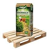 20 Sack Dekormulch Natur mit je 50 Liter = 1000 Liter Plantop Mulch