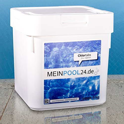 2x 5 kg Chlortabs 20 g für den Swimmingpool Marke Meinpool24.de