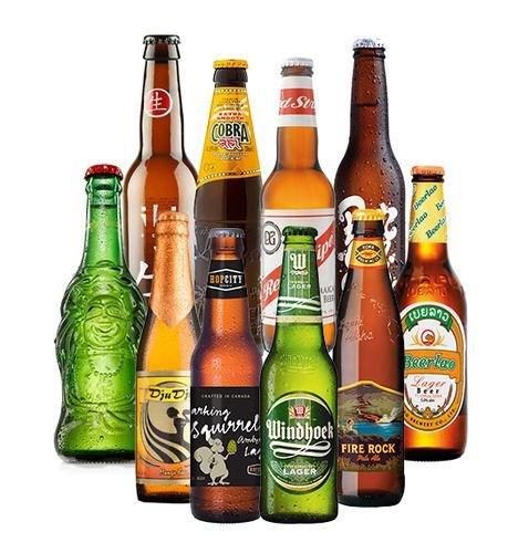 Biere der Welt Exoten (Bier Stripe Red)