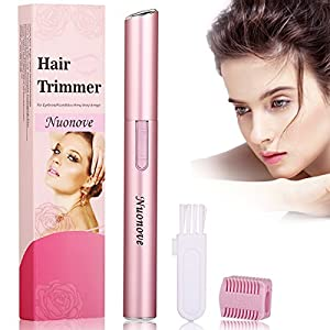 Eyebrow Trimmer Eyebrow Hair Trimmer, Eyebrow Trimmer for Women, Electric Eyebrow Trimmer Eyebrow Trimmer Scissors, Portable Electric Ladies' Eyebrow Shaper (Pink)
