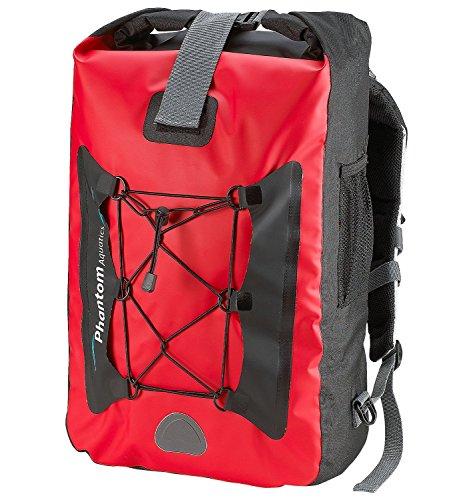 Phantom Aquatics Hiking Wasserdichter Rucksack, rot, Einheitsgröße