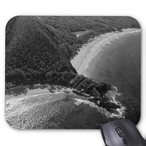 Mouse-Pad rund 20cm | Qualit?ts-Mauspad aus strapazierf?higem Kunststoff mit rutschfester Unterseite aus Zellkautschuk - passend f¨¹r alle g?ngigen Mouse-Luftbild von Makena Strand Maui Hawaii