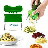 Hand Held spiralizer, Uvistar Good Grips di verdure a spirale taglierina Tagliatelle zucchine, carote, patate, barbabietole, cetriolo Spaghetti Pasta Maker