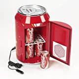 Portable Mini Can-Shaped Fridge for Home (11 L, Red)