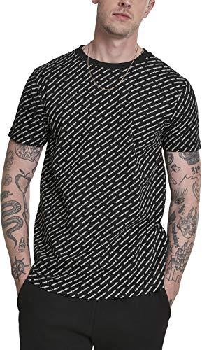 Classic Logo Tee Herren (Urban Classics Herren Allover Logo Tee T-Shirt Schwarz (Black 00007) Medium (Herstellergröße: M))