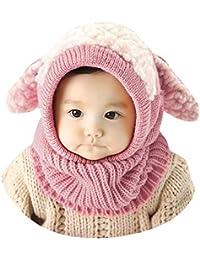 Lukis Bonnet Tour du Cou Enfant Cagoule Bébé Garçon Fille Cache Oreilles  Chapeau Tricoté Hiver 0 c05b6e06922