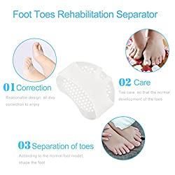 New Arrival Soft Silicone Gel Toe Pads Comfortable High Heel Shock Absorption Anti Slip Resistant Metatarsa Forefoot Feet Pad Health Care