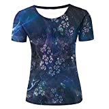 Womens Casual Design 3D Printed Fractal Pattern Texture Graphic Short Sleeve Couple T-Shirts Top Tee XS