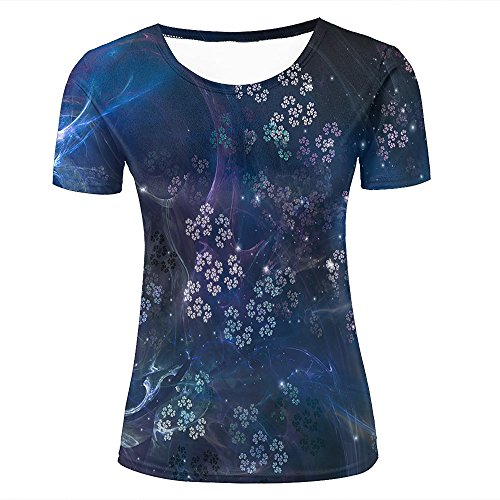 qianyishop Mens 3D Printed Fractal Pattern Texture Graphic Couple T-Shirts C