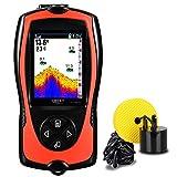 LUCKY buscador de Peces portátil con Cable Sonar buscador de Profundidad de Agua Pantalla LCD para Kayak de Pesca Pesca en Hielo Pesca en el mar