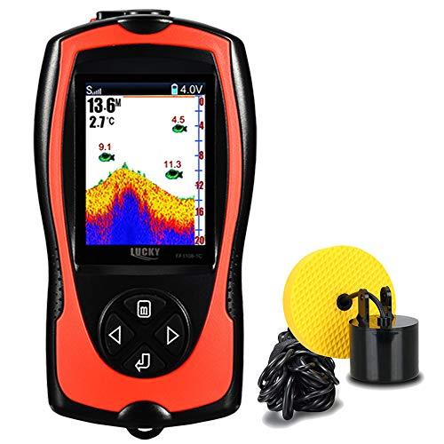 LUCKY cercatore di Pesci Portatile cablato ecoscandaglio cercatore d'Acqua Schermo LCD per Kayak Pesca Pesca sul Ghiaccio Pesca in Mare