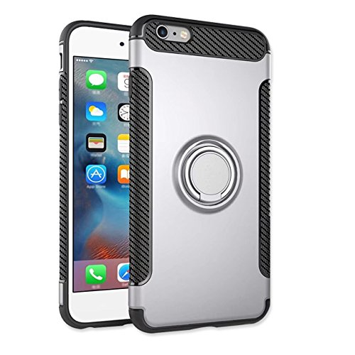 Coque iPhone 7 / iPhone 8, Sunroyal Coque [Extreme Protection] Etui 2 en 1 TPU Gel de Silice et PC Plastique [Serie Unicorn Beetle Pro] Housse Coque [Solide, Robuste et Rigide] antichoc Armor Case ave Argent