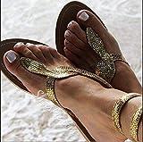AGECC Damen Sandalen, Golden, Zweiundvierzig