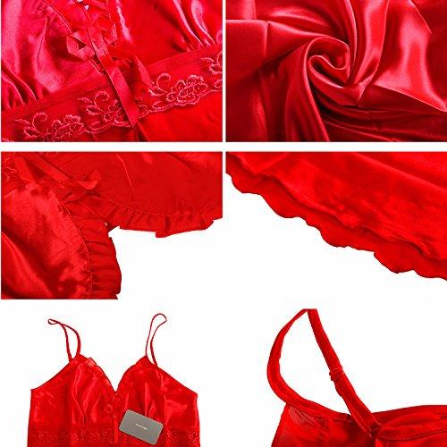 ICOCOPRO -  Pigiama due pezzi  - Donna Red