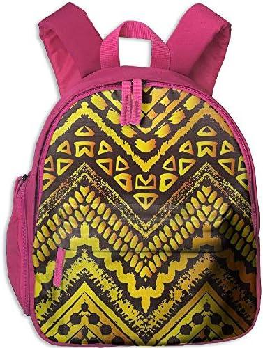 Teen's Boys&Girls School Backpack   Pocket Tribal Hand Drawn Painted Ethnic Pattern   and Stripes African Geometric Art Full Yellow Black B07MPL2RCQ | Nombreux Dans La Variété