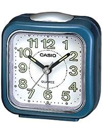 Casio TQ-142-2EF - Reloj analógico - digital de caballero de cuarzo con correa de piel verde (alarma)