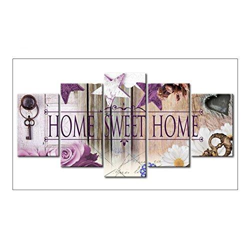 5D DIY Vollbohrer Diamant Malerei 5-Bilder Kombination Handwerk Kreuzstich Kit Set Stickerei Home Decor Geschenk(02) ()