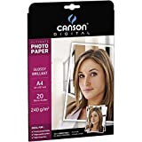 Canson Digital UltiMate Papier Photo Brillant 240 g A4 Blanc - 20 Feuilles