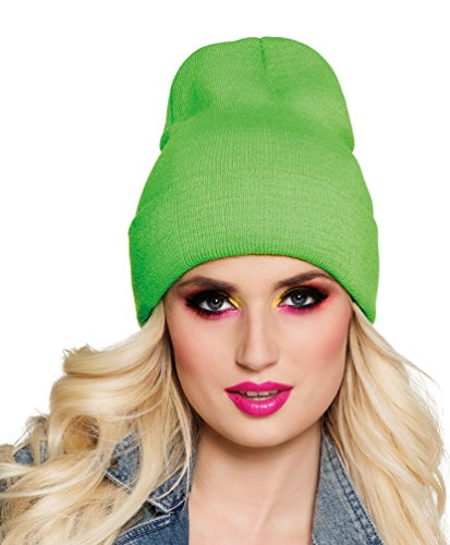 ostüm Mütze neon grün Zubehör Fasching Karneval ()