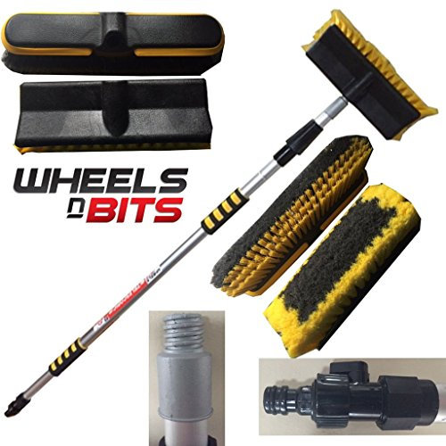 Price comparison product image Wheels N Bits 2M 6.6FT HEAVY DUTY DELUXE EXTENDING CAR VAN TRUCK WASH BRUSH TELESCOPIX EX LONG REACH CARAVAN 2 Metre Ideal for Washing Decking Spouting ETC