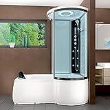 AcquaVapore DTP8055-A007L Whirlpool Wanne Duschtempel Dusche Duschkabine 170x98, EasyClean Versiegelung der Scheiben:Nein! +0.-EUR
