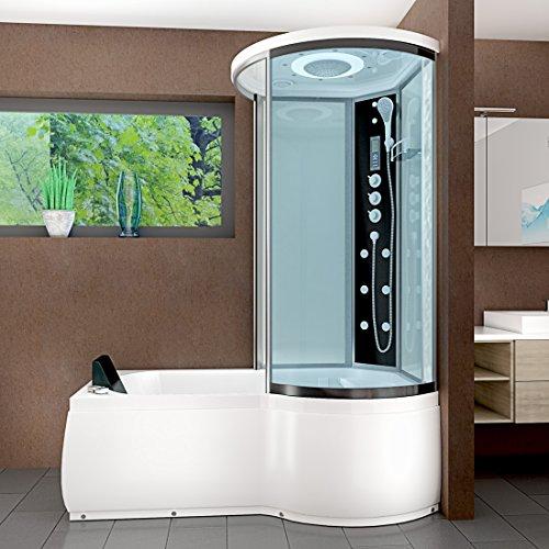 AcquaVapore DTP8055-A007L Whirlpool Wanne Duschtempel Dusche Duschkabine 170x98, EasyClean Versiegelung der Scheiben:2K Scheiben Versiegelung +79.-EUR