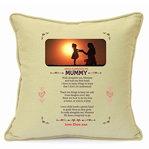 Personalised Presents Gifts For Mummy Mum Mother Birthday Mothers Day Christmas Xmas Worlds Best Heart Touching Poem Keepsake Cushion Cover 18 Inch 45